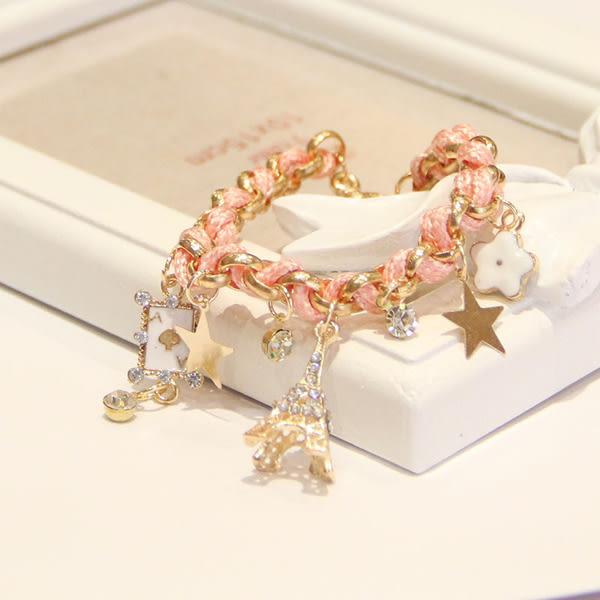 Star 日韓系列- 韓國時尚甜美鐵塔手鏈 .特價品 -C5759