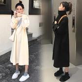 孕婦裝秋款套裝外出時尚款冬裝套裝衛衣秋冬款上衣長款孕婦連身裙 童趣屋