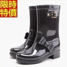 中筒雨靴雨鞋-歐美時尚甜美蝴蝶結女靴子鞋子3色66ak11【時尚巴黎】