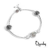 Quenby 甜美魅力好搭風人造粉晶手鍊/手環-B