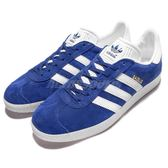 【六折特賣】adidas 休閒鞋 Gazelle W 復古 藍 白 麂皮 金標 男鞋 女鞋 情侶鞋 【PUMP306】 S76227