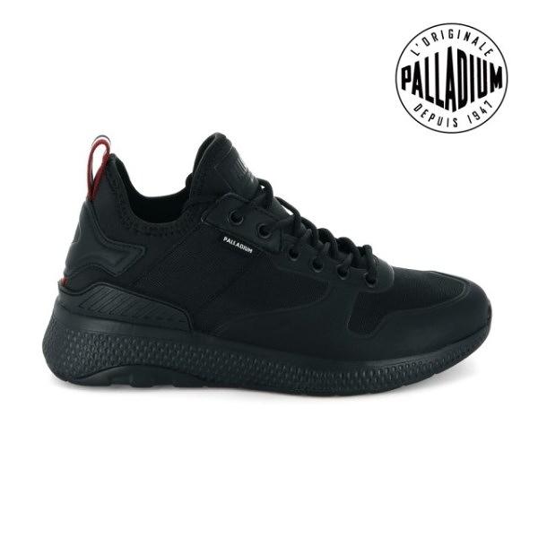 【南紡購物中心】【PALLADIUM】AX EON AMPHIBIAN 復古慢跑鞋 / 黑 女鞋