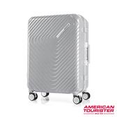 AT美國旅行者 28吋Esquino 鋁合金細框剎車雙輪行李箱(銀)