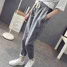 寬鬆女長褲子休閒褲顯瘦薄款運動褲哈倫褲 【米娜小鋪】