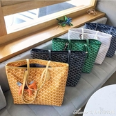 購物袋拖特包包包女新款百搭韓版東大門狗牙包大容量單肩手提 快速出貨