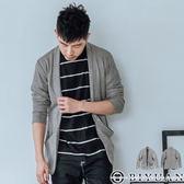 【OBIYUAN】罩衫 針織外套 韓國製 素色 薄外套 共1色【B1255】