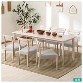 ◎實木餐桌椅7件組 ALNUS 180×80 WW/LGY 櫸木 NITORI宜得利家居