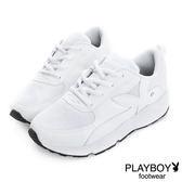 PLAYBOY 璀璨勢力 閃閃亮蔥拼接休閒鞋-白