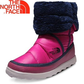 【The North Face 女 ThermoBall 暖魔球 保暖雪靴 亮光耀紫/宇宙藍】A5S9