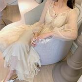 溫柔仙女裙很仙的連衣裙長裙春夏季新款韓版海邊度假雪紡裙兩件套