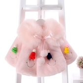 限定款鋪棉厚外套 女童冬裝快速出貨免運嬰兒寶寶棉衣加厚正韓時尚0-1-2-3歲仿皮草刷毛外套