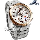 EDIFICE CASIO卡西歐 地圖雙顯設計腕錶 男錶 日期顯示視窗 玫瑰金錶框 EFR-550D-7A EFR-550D-7AVUDF