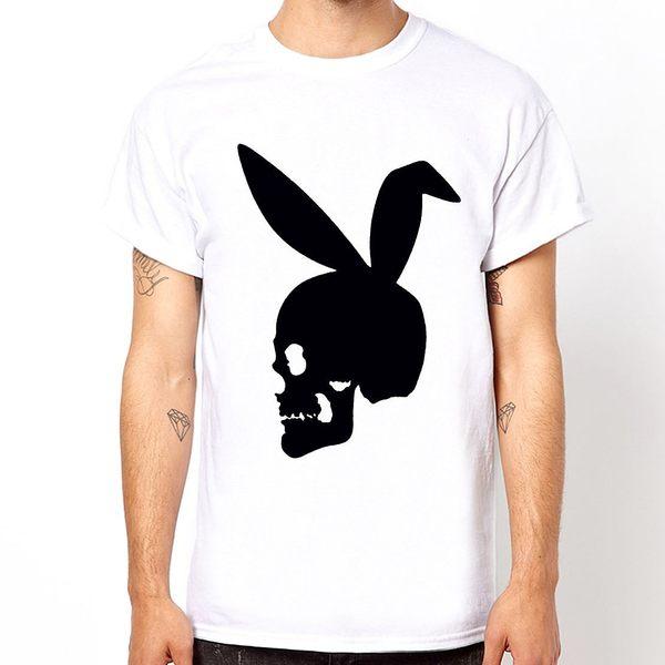 【Dirty Sweet】Skull Bunny短袖棉質T恤-3色 骷髏兔圖案趣味設計幽默潮流時尚現貨390