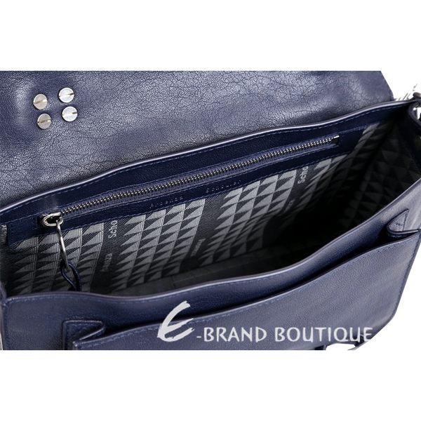 PROENZA SCHOULER PS1 Tiny 山羊皮革兩用包(小/深藍色) 1440281-34
