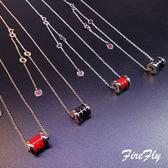 【優選】鈦鋼紅陶瓷彈簧小紅人情侶吊墜鎖骨錬禮物
