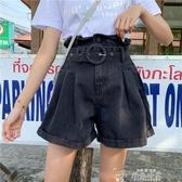 2020夏季新款韓版大碼胖mm牛仔短褲女高腰寬鬆顯瘦a字闊腿熱褲子 新年禮物