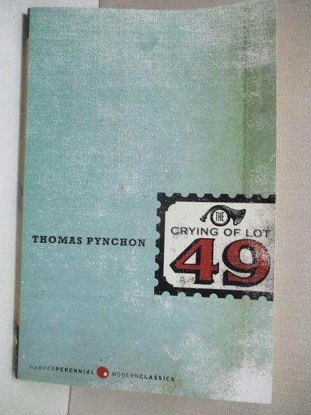 【書寶二手書T3/原文小說_GIZ】The Crying of Lot 49_Pynchon, Thomas