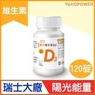 【中廣熱播】原力維生素D3(120顆/瓶) 悠活原力 防疫防護 吳淡如愛用推薦