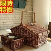 野餐籃 餐具組合-外出收納儲物二人份郊遊用品68e39【時尚巴黎】