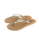 MALVADOS LUX 萊絲系列 夾腳拖 人字拖 拖鞋 雨天 銀色 女鞋 4001-1739 no011