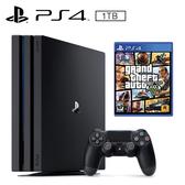 SONY PS4 PRO 1TB 主機 + 俠盜獵車手5《中文版》
