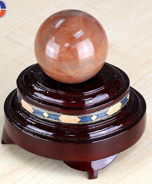 [協貿國際]天然玫瑰紅石圓球保健球手球單顆價(不含底座)