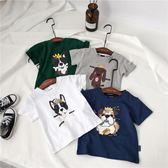 夏季男童女童卡通印花短袖t恤小童寶寶休閒上衣【七夕節最後一天】