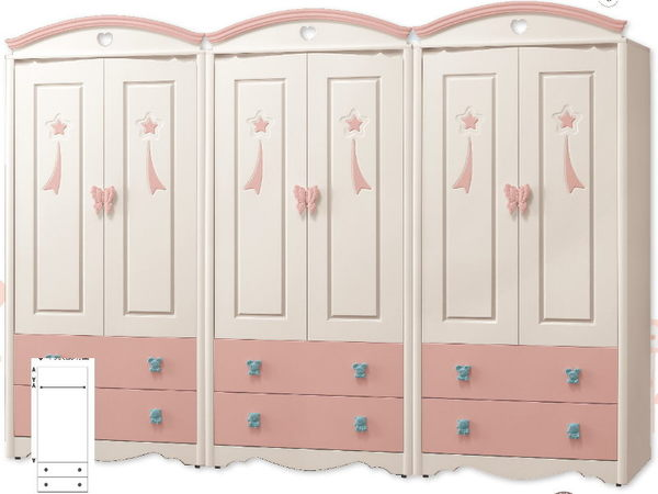 衣櫃 衣櫥 MK-130-1A 貝妮斯9尺衣櫥(粉紅) 【大眾家居舘】