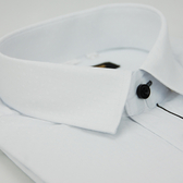 【金‧安德森】白色細格布變化門襟窄版短袖襯衫