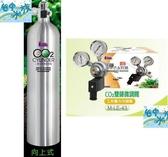 {台中水族} LE-43 CO2 雙錶微調電磁閥+LE-120  鋁合金CO2鋁瓶-2L(向上式)  特價 二氧化碳 水草缸用