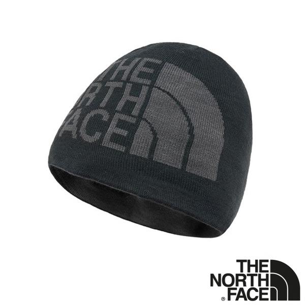 【THE NORTH FACE 美國】REVERSIBLE TNF BANNER 雙面保暖帽『黑/深灰』NF00AKND 時尚 帽子