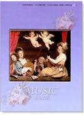 【小叮噹的店】全新 MS102 空白五線譜 大本音樂簿:天使的合奏(12行,紫底)近A4