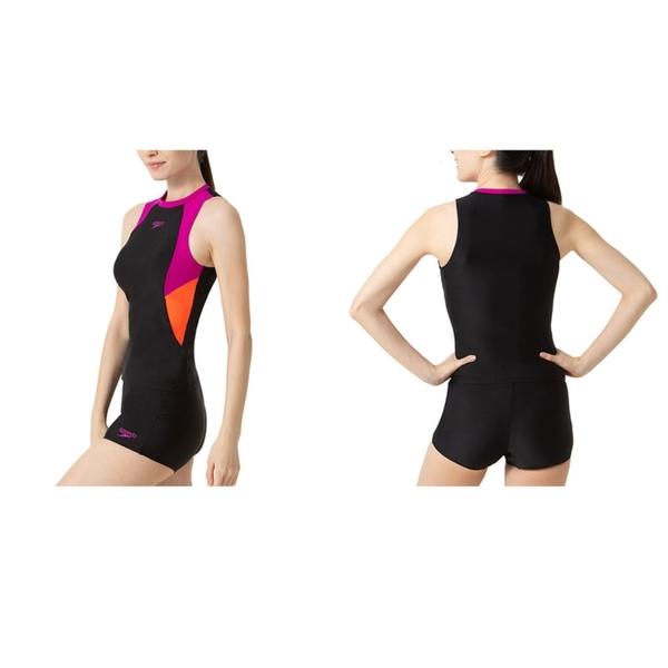 SPEEDO 女運動兩截式泳裝(免運 兩件式 游泳 海邊 沙灘 戲水 泳衣≡排汗專家≡