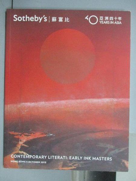 【書寶二手書T3/收藏_QCZ】Sotheby s_Contemporary Literati:Early…2013/1