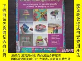 二手書博民逛書店Brush,罕見Sponge, Stamp: A Creativ