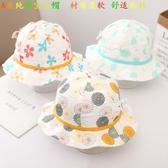 兒童夏季嬰兒帽女童輕薄透氣遮掩防曬帽紗布印花時尚百搭嬰兒帽潮