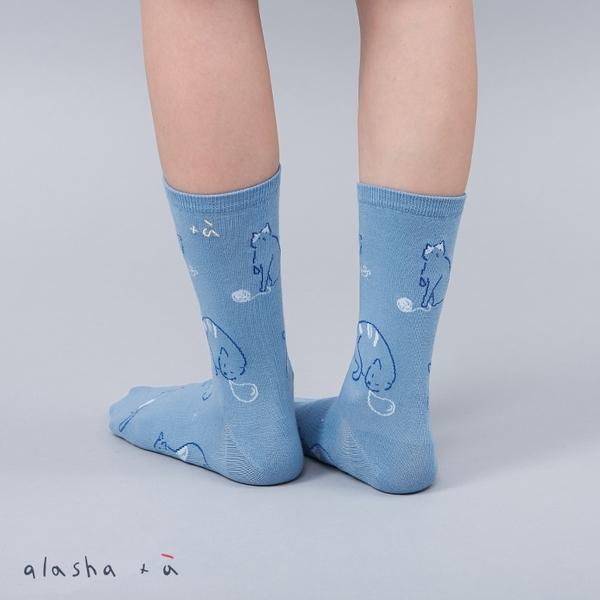 a la sha+a 貓咪森友會中長襪