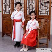 兒童漢服女童古裝中國風襦裙男童國學服裝書童三字經弟子規演出服