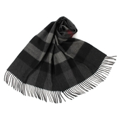 BURBERRY 經典大格紋山羊絨圍巾(炭灰色)089542-1