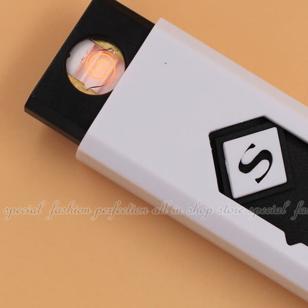 【DF228】防風USB點煙器 防風電子點煙器 攜帶型藍光充電式打火機 小夜燈★EZGO商城★