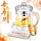 養生壺110V養生壺美國 多功能電煮鍋 出口日本全自動加厚玻璃電熱燒水壺伊芙莎YYS