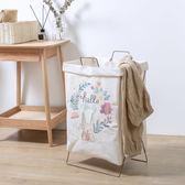 北歐簡約家用棉麻髒衣服收納筐可摺疊