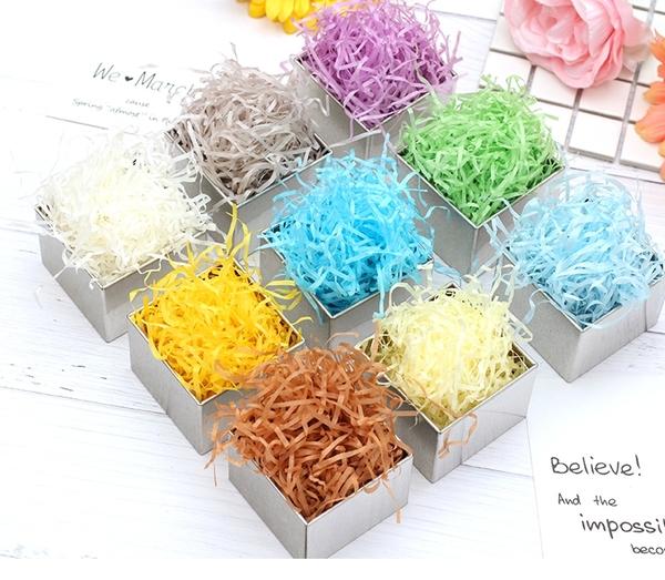 喜糖盒填充生日禮物盒拉菲草碎紙絲禮品包裝盒填充物【步行者戶外生活館】