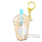 〔小禮堂〕角落生物 恐龍 珍珠奶茶飲料杯造型塑膠吊飾《藍》鑰匙圈.掛飾.鎖圈 4573133-63954
