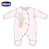 chicco-粉彩-小兔繡圖剪毛絨前側開兔裝