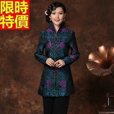 唐裝上衣-精美錦緞印花別緻中國風女中式禮服66ac10【時尚巴黎】