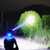 感應頭燈強光充電超亮變焦釣魚夜釣燈超輕小號頭戴式疝氣燈手電筒   聖誕免運
