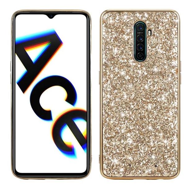奢華閃粉殼 OPPO Reno ACE 手機殼 Realme X2 Pro 水鑽 閃亮 保護殼 硬殼 軟矽膠邊框 手機套