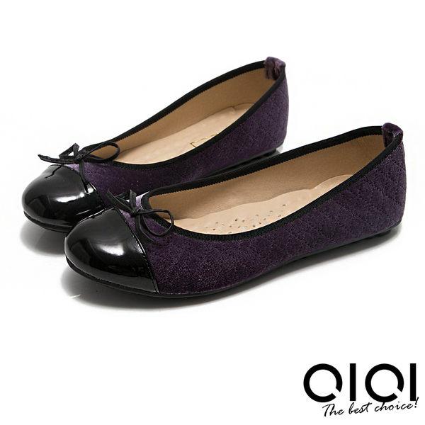娃娃鞋 MIT小蝴蝶拼接菱格紋豆豆娃娃鞋(紫)*0101shoes【18-621pu】【現+預】