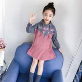 女童秋裝連身裙2018新款兒童長袖連帽衛衣韓版潮衣小女孩洋氣裙子gogo購